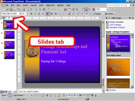 Powerpoint Outline Tab by Ms Powerpoint Miscellaneous How To Use Powerpoint Tutorial