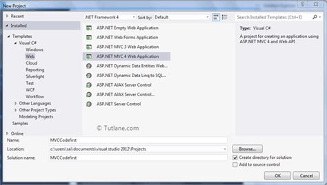 tutorial asp net mvc entity framework code first approach in entity framework in asp net mvc