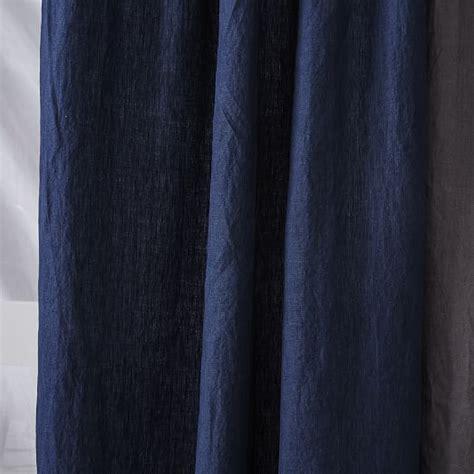 belgian linen curtain belgian flax linen curtain midnight west elm