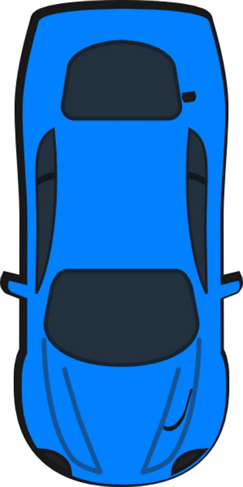 blue car top view  clip art  clkercom vector clip art  royalty  public