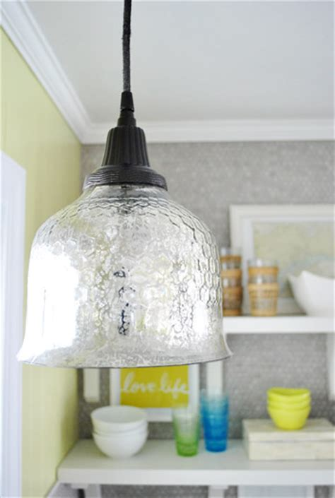 how to spray paint a pendant light s cord canopy