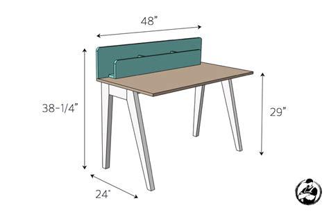 Modern Desk Plans Modern Desk W Organizer Free Diy Plans Rogue Engineer