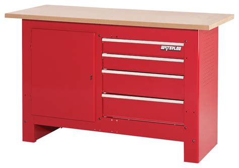 waterloo work bench waterloo sp wb4rd 4 drawer workbench modern indoor