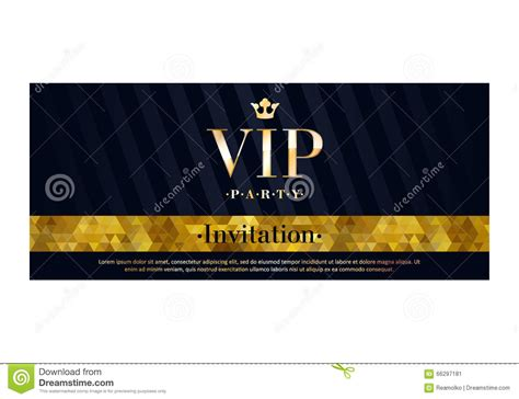 Vip Invitation Card Premium Design Template Stock Vector Illustration Of Ornament Glow 66297181 Vip Birthday Invitations Templates Free