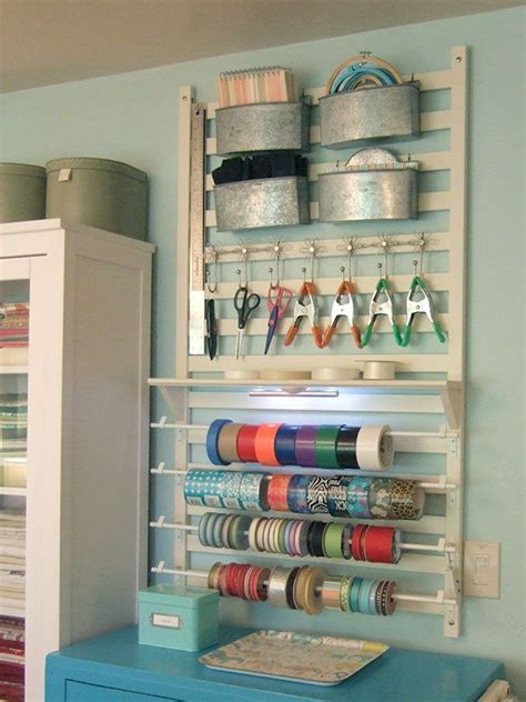 wall storage for craft supplies crafts rooms