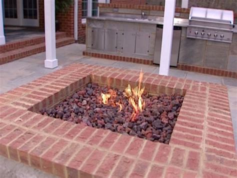 gas fire pit with lava rocks for the home pinterest