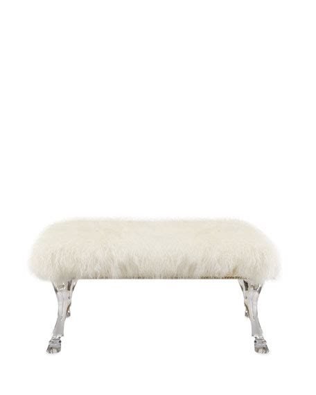 sheepskin bench massoud centaur white sheepskin bench