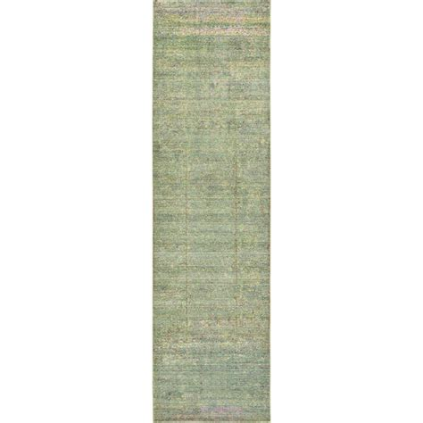 2 X 9 Runner Rug Unique Loom Green 2 Ft 7 In X 9 Ft 10 In Runner Rug 3125281 The Home Depot