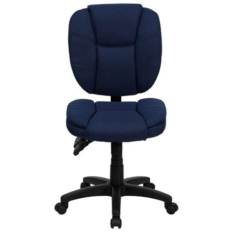Flash Furniture Mid Back Ergonomic Task Chair In Navy Blue Blue Office Furniture