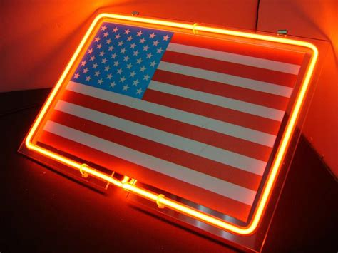 american lighting and signalization image gallery neon sign american flag