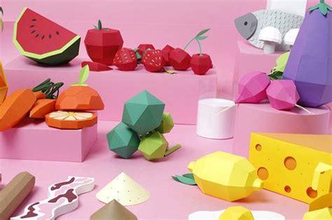 Food Papercraft - illustration food design crafts graphic design paper