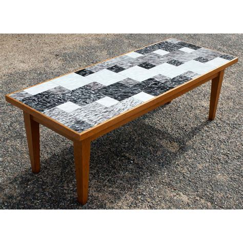 Tile Coffee Table Vintage Style Coffee Table With Glass Tile Ebay