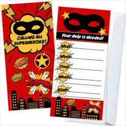 superhero birthday party invitations wblqual com