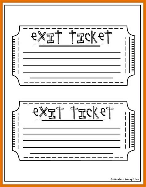 classroom exit ticket template 5 6 exit ticket ideas sowtemplate