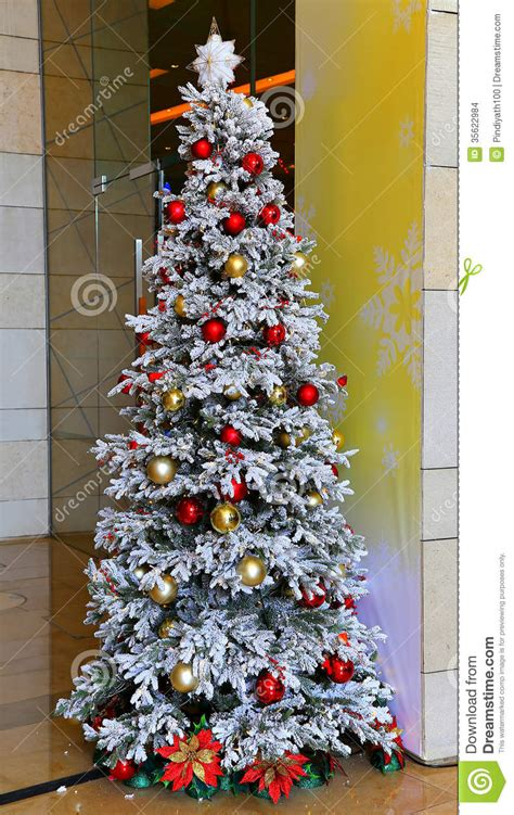 photos of atrificial christmas tress with snow white tree stock photo image of white artificial 35622984