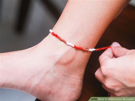 7 Ankle Bracelets by How To Make Ankle Bracelets With Pictures Wikihow