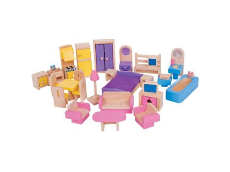bigjigs dolls house furniture bigjigs dolls house furniture set woodentoyshop co uk