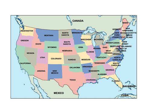 population map usa states powerpoint