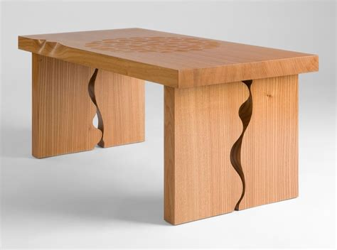 Simple Table L by Wood Gallery Elm Furniture Maker