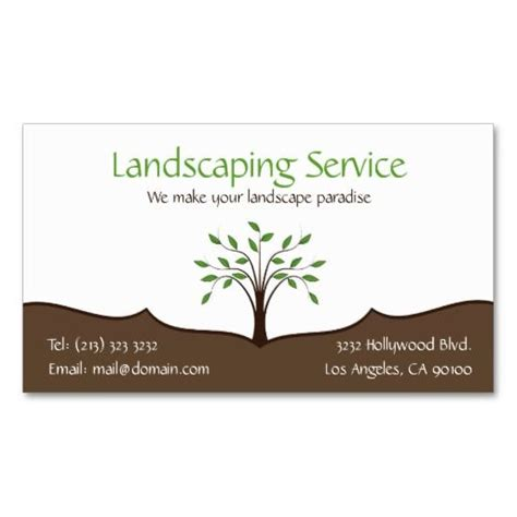 landscape business cards landscaping service business card 2 sided