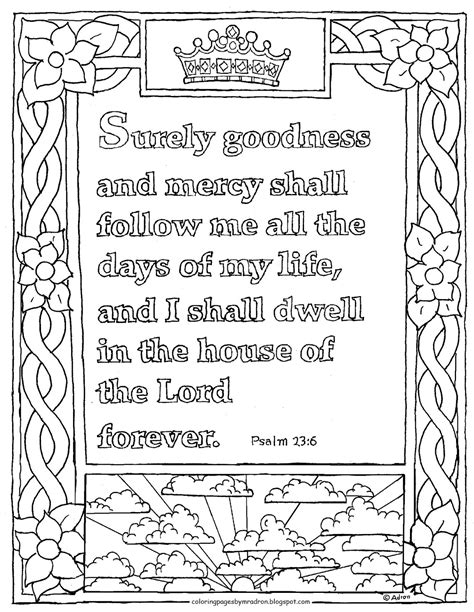Psalm 23 Coloring Pages coloring pages for by mr adron printable psalm 23 6