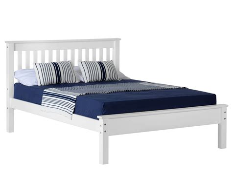 White Low Bed Frame Seconique Monaco Monaco White Low Footend Bed Frame