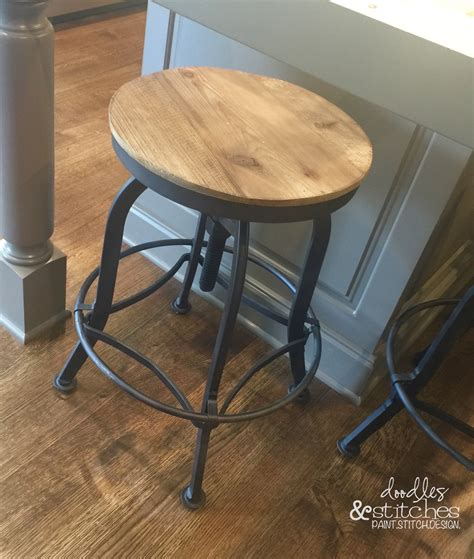 Akron Adjustable Height Bar Stool by The Jo Jo Bar Stools Doodles Stitches