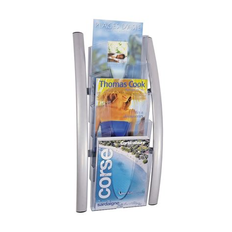 Modern Wall Mounted Magazine Rack by Magazine Racks Wall Mounted Literature Displays