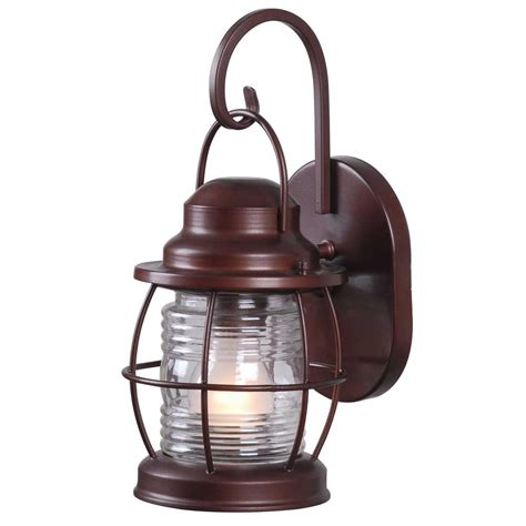 copper wall lantern home decorators collection harbor 1 light copper outdoor