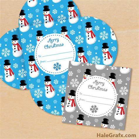 free printable christmas snowman pattern gift card holders - Free Printable Christmas Gift Card Holders
