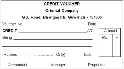 Credit Voucher Template Credit Voucher