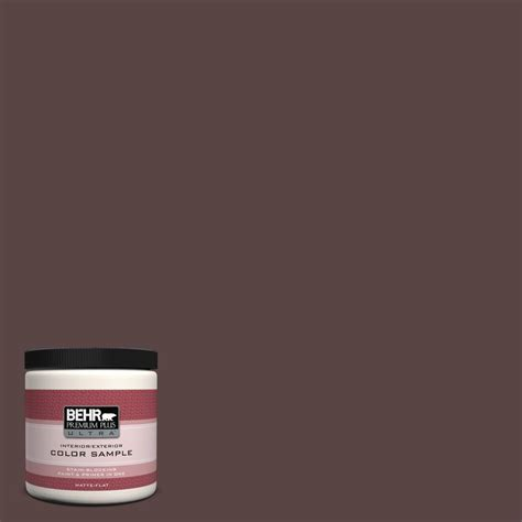 behr premium plus ultra 8 oz 150b 5 cheery interior exterior paint sle 150b 5u the home depot