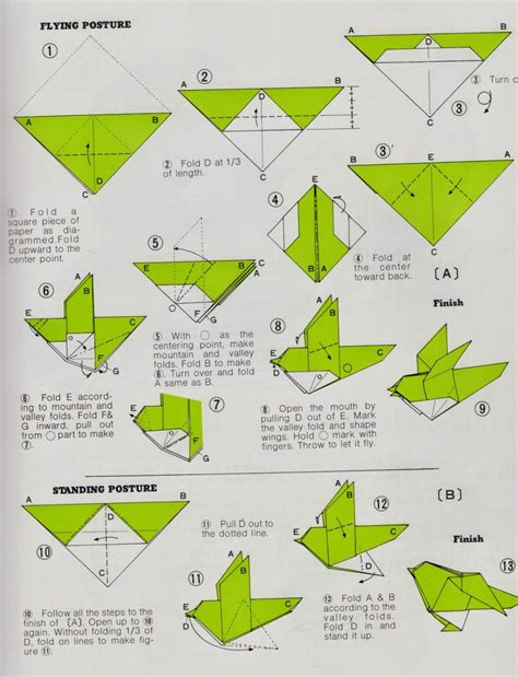 Origami Patterns Pdf - origami make origami bird steps how to make paper parrot