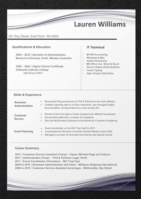 cv templates free download australia 10 best sle resumes professional resume templates