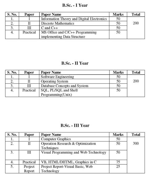 Bsc Information Technology Course Outline by B Sc It Course All Subjects 2018 2019 Studychacha