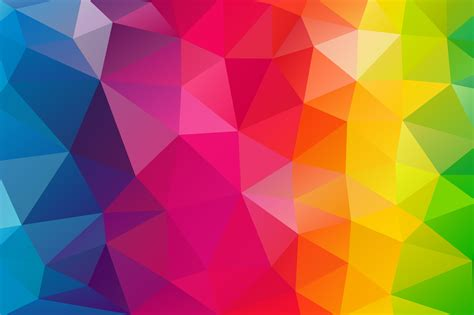 colorful picture triangles colorful background hd abstract 4k wallpapers