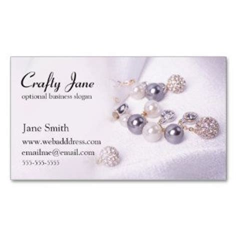 elegant jewelry business card design template business