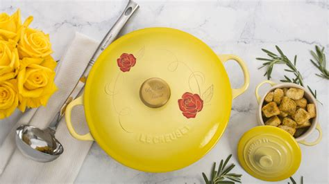 le creuset beauty and beast le creuset releases new beauty and the beast cookware