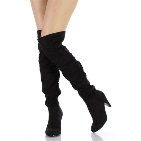 the knee boots faux suede