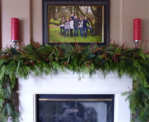 mantle swags lush sophisticated garland tgif this is