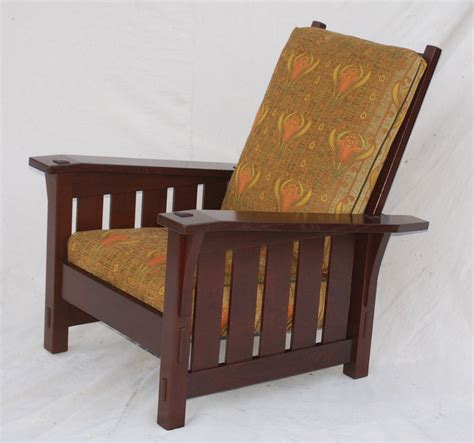 Stickley Morris Chair by Voorhees Craftsman Mission Oak Furniture Gustav Stickley Replica Large Slant Arm Morris Chair