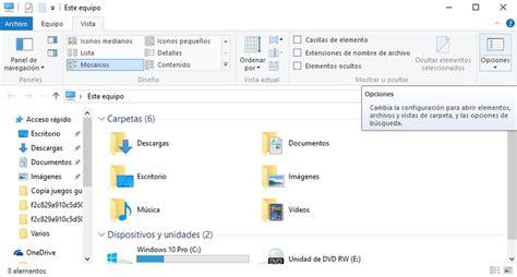 carpeta imagenes windows 10 como quitar carpetas y archivos recientes en windows 10