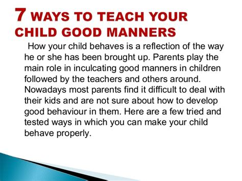 7 Ways To Teach Your About The Holidays by 7 Ways To Teach Your Child Manners