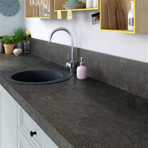 mat駻iaux plan de travail cuisine plan de travail stratifi 233 noir mat l 315 x p 65 cm