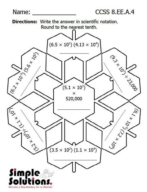 eighth grade math worksheet   math snow