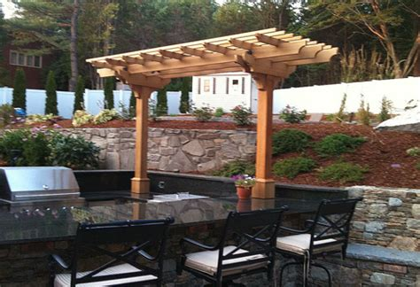 pergola outdoor kitchen outdoor kitchen pergola by trellis structures