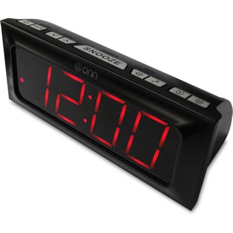Digital Wall Clocks by Onn Am Fm Digital Clock Radio Walmart Com