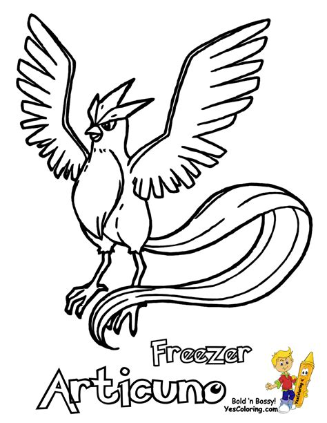Articuno Coloring Pages coloring goldeen mew free