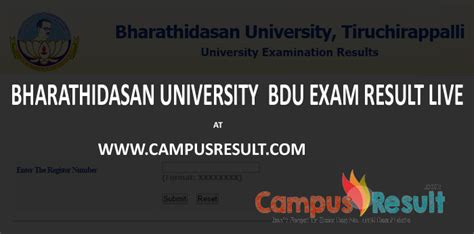 Bdu Mba Result 2016 by Bharathidasan Bdu Sem Results 2017 At Bdu