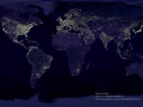 map of lights day 75 light pollution ths earth space science